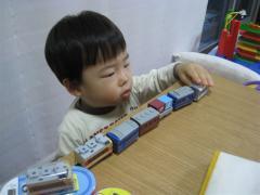 電車を並べて遊ぶ