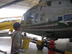 プロペラカフェのヘリコプター