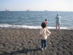 城南島海浜公園の海辺にて1