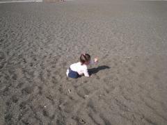 城南島海浜公園の海辺にて2