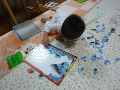 カーズの枠に飛行機のパズル