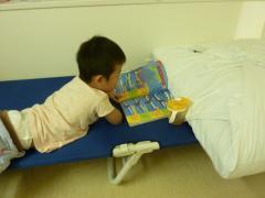 ひこうきの本を読む