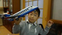 青い飛行機